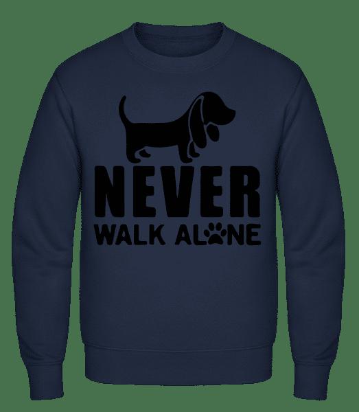 Never Walk Alone Dog - Classic Set-In Sweatshirt - Navy - Vorn