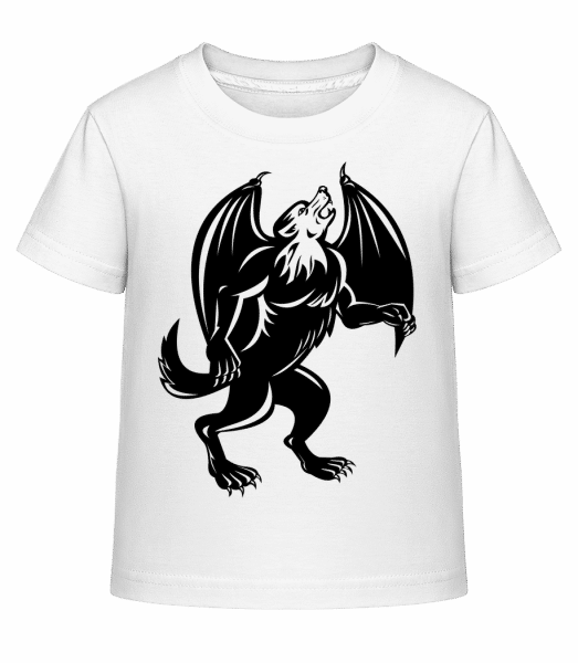 Gothic Monster Black - Kid's Shirtinator T-Shirt - White - Vorn
