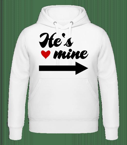 He's Mine - Hoodie - White - Vorn