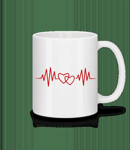 Herzschlag - Tasse - Weiß - Vorn