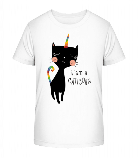 I Am A Caticorn - Kinder Premium Bio T-Shirt - Weiß - Vorn