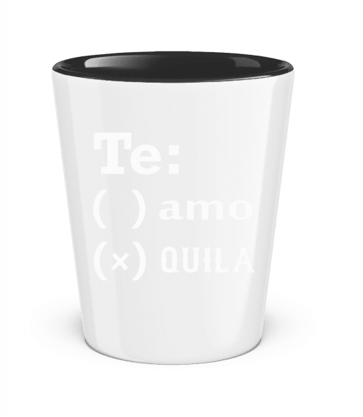 Te Amo Tequila - Schnapsglas zweifarbig - Schwarz - Vorn