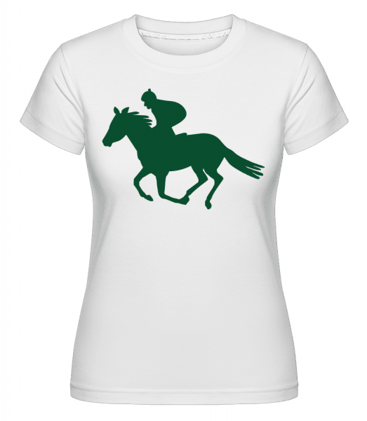 Horse Riding Green -  Shirtinator Women's T-Shirt - White - Vorn