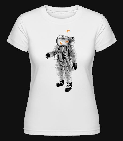 Goldfisch Astronaut - Shirtinator Frauen T-Shirt - Weiß - Vorn
