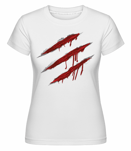 Bloody Scratches -  Shirtinator Women's T-Shirt - White - Vorn