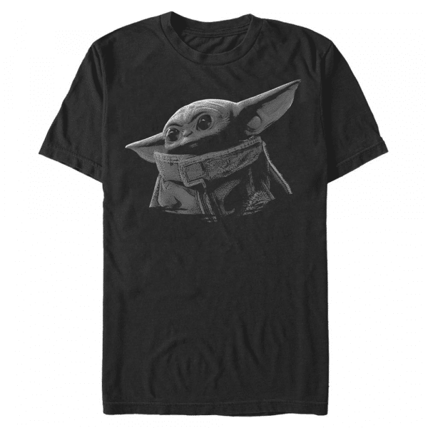Green Grey The Child - Star Wars Mandalorian - Men's T-Shirt - Black - Front
