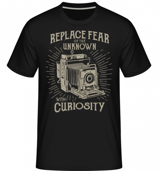 Replace Fear -  Shirtinator Men's T-Shirt - Black - Vorn