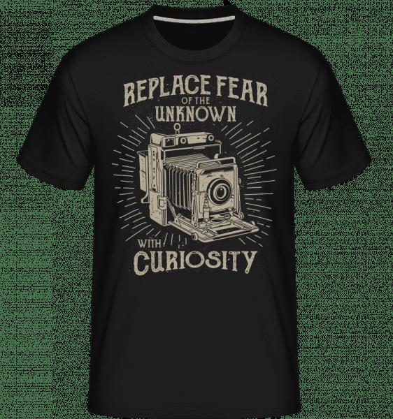 Replace Fear -  Shirtinator tričko pro pány - Černá - Napřed