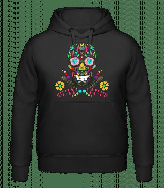 Colorful Skull - Hoodie - Black - Vorn