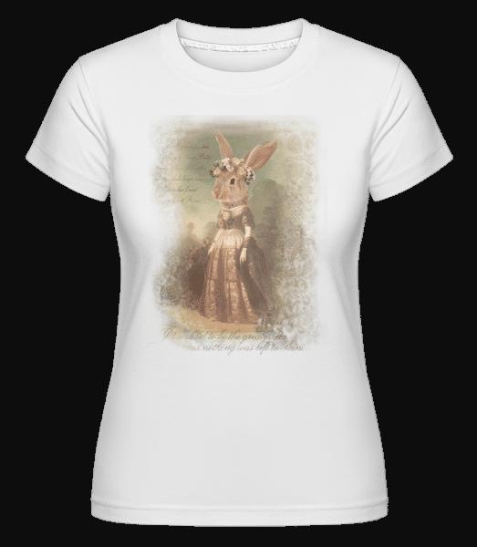 malování Bunny -  Shirtinator tričko pro dámy - Bílá - Napřed