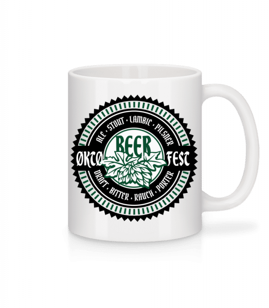 Oktoberfest Beer - Mug - White - Vorn