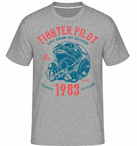 Fighter Pilot -  Shirtinator Men's T-Shirt - Heather grey - Front