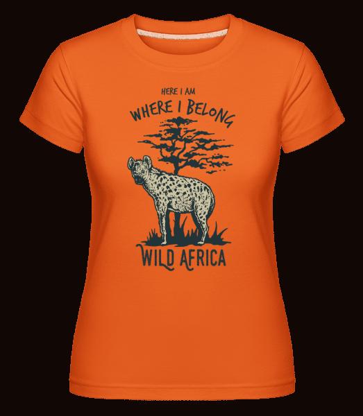 Hyena -  Shirtinator tričko pro dámy - Oranžová - Napřed
