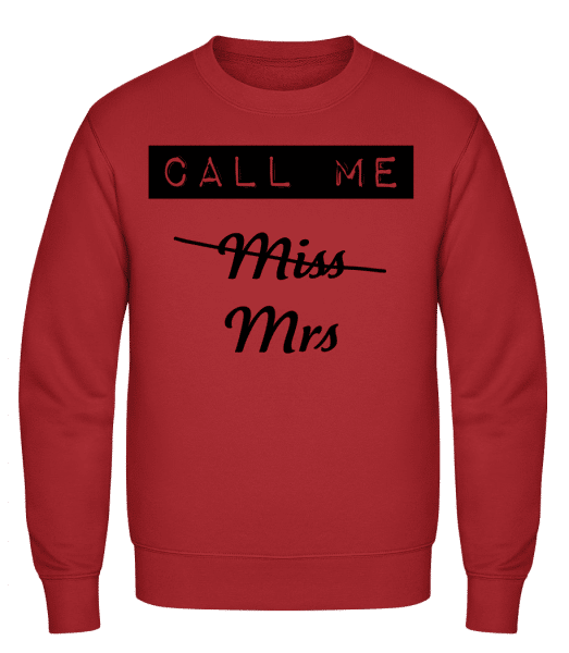 Call Me Mrs - Classic Set-In Sweatshirt - Red - Vorn