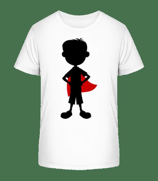 Frère Super Héros - T-shirt bio Premium Enfant - Blanc - Devant