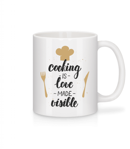 Cooking Is Love Made Visible - Mug - White - Vorn