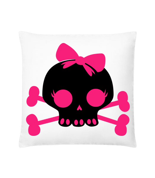 Emo Skull Pink - Cushion - White - Vorn