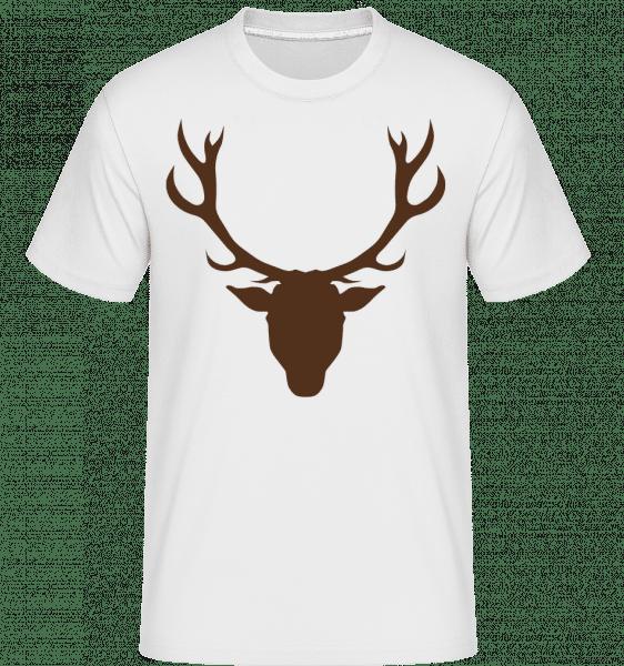 Cerf - Marron - T-Shirt Shirtinator homme - Blanc - Devant