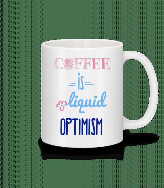 Coffee Is Liquid Optimism - Mug - White - Vorn