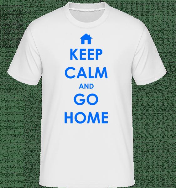 Keep Calm And Go Home - Shirtinator Men's T-Shirt - White - Vorn