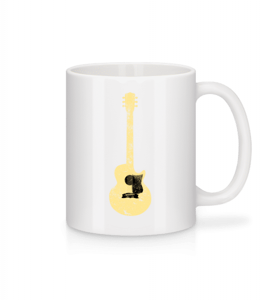 Guitar See-Through - Mug - White - Vorn
