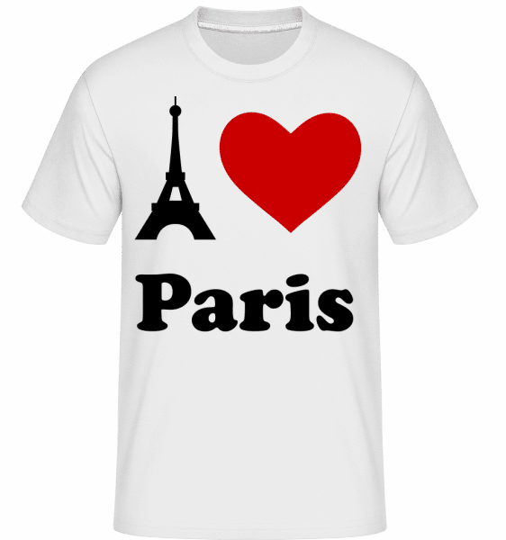 I Love Paris - T-Shirt Shirtinator homme - Blanc - Devant