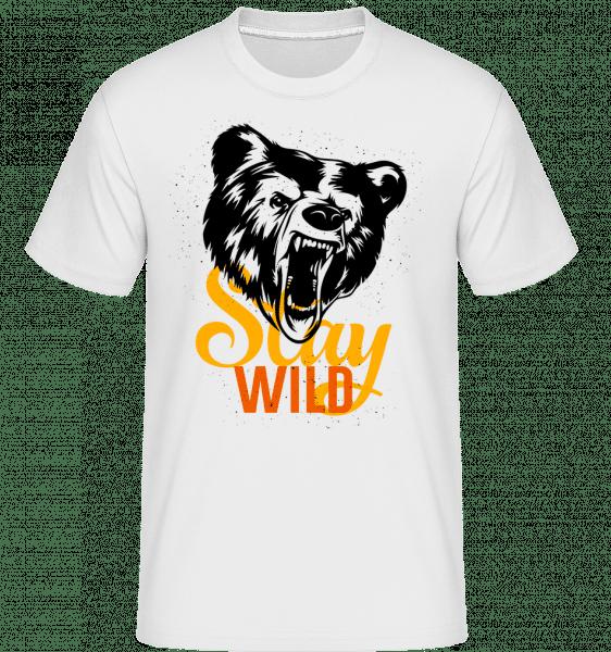 Stay Wild - T-Shirt Shirtinator homme - Blanc - Devant
