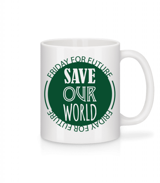 Save Our World - Mug - White - Vorn