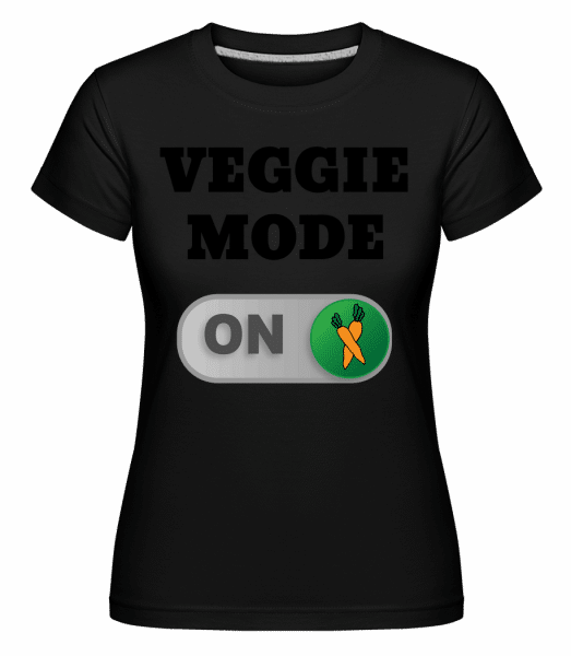 Veggie Mode On - Carrots - Shirtinator Women's T-Shirt - Black - Vorn