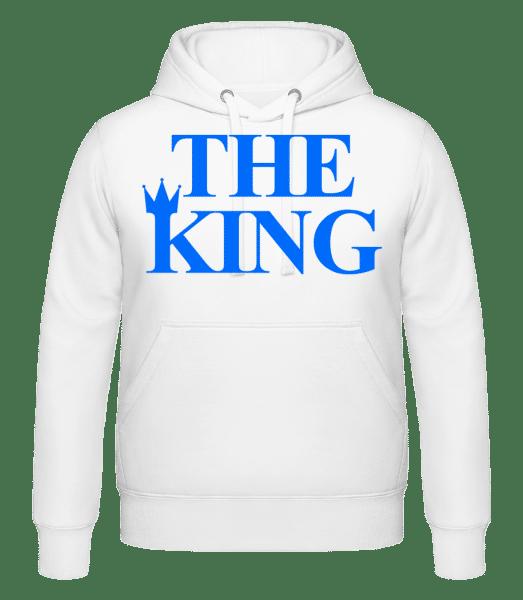 The King Blue - Sweat à capuche - Blanc - Devant